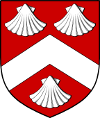 English Family Shield for Melbourne or Milborne
