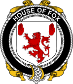 Irish Coat of Arms Badge for the FOX family