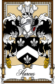 Scottish Coat of Arms Bookplate for Harcarse or Harcus
