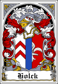Danish Coat of Arms Bookplate for Holck