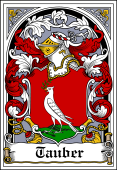 German Wappen Coat of Arms Bookplate for Tauber