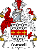 English Coat of Arms for Auncell