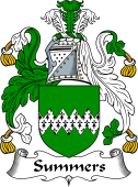English Coat of Arms for Somers or Summers
