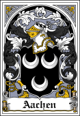 German Wappen Coat of Arms Bookplate for Aachen