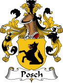 German Wappen Coat of Arms for Posch