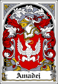 Polish Coat of Arms Bookplate for Amadej