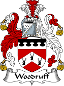 English Coat of Arms for Woodroff or Woodruff