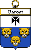 French Coat of Arms Badge for Bardot