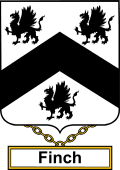 English Coat of Arms Shield Badge for Finch