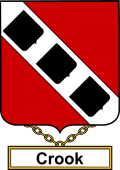 English Coat of Arms Shield Badge for Crook