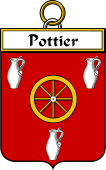 French Coat of Arms Badge for Pottier