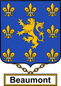English Coat of Arms Shield Badge for Beaumont