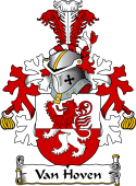 Dutch Coat of Arms for Van Hoven