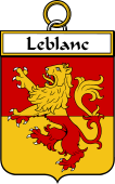 French Coat of Arms Badge for Leblanc (blanc le)