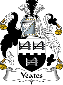 Irish Coat of Arms for Yeates or Yates