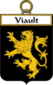 French Coat of Arms Badge for Viault