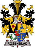 Swedish Coat of Arms for Rosenblad