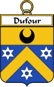 French Coat of Arms Badge for Dufour