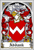 Polish Coat of Arms Bookplate for Abdank