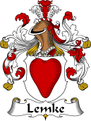 German Wappen Coat of Arms for Lemke