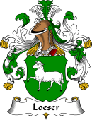 German Wappen Coat of Arms for Loeser