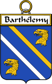 French Coat of Arms Badge for Barthélemy