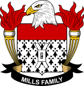 American Coat of Arms for Mills