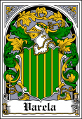 Spanish Coat of Arms Bookplate for Varela