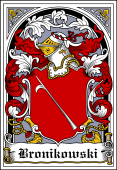 Polish Coat of Arms Bookplate for Bronikowski