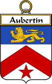 French Coat of Arms Badge for Aubertin