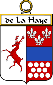 French Coat of Arms Badge for de La Haye (Haye de la)