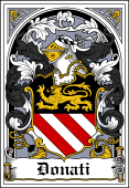 Italian Coat of Arms Bookplate for Donati