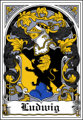 German Wappen Coat of Arms Bookplate for Ludwig