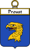 French Coat of Arms Badge for Proust