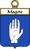French Coat of Arms Badge for Magne