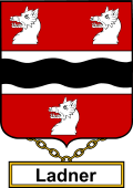 English Coat of Arms Shield Badge for Ladner
