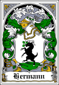 German Wappen Coat of Arms Bookplate for Hermann