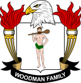 American Coat of Arms for Woodman