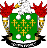 American Coat of Arms for Coffin