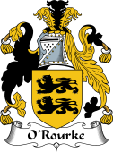 Irish Coat of Arms for O'Rourke or Rorke