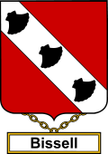 English Coat of Arms Shield Badge for Bissell