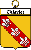 French Coat of Arms Badge for Châtelet