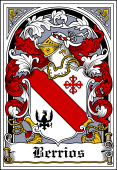 Spanish Coat of Arms Bookplate for Berrios
