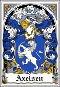 Danish Coat of Arms Bookplate for Axelsen