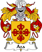 Spanish Coat of Arms for Aza or Daza