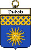 French Coat of Arms Badge for Dubois