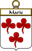 French Coat of Arms Badge for Marie