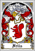 Danish Coat of Arms Bookplate for Friis
