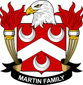 American Coat of Arms for Martin