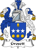 Scottish Coat of Arms for Grosset or Grosett